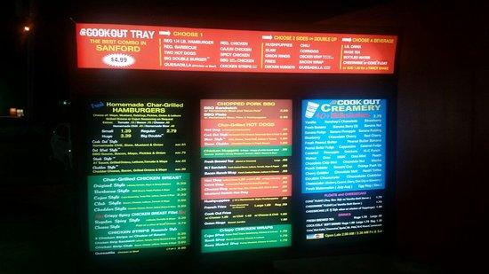 Cook Out Restaurants Sanford Restaurant Reviews Phone Number