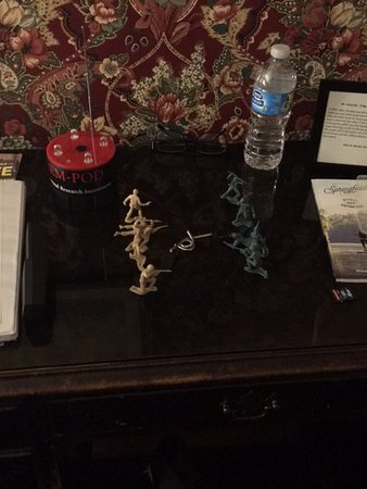 Walnut Street Inn: Set a puzzle and toys for the ghosts to play with. Nothing was moved.