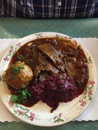 Glendale Heights, IL: Sauerbraten with dumpling