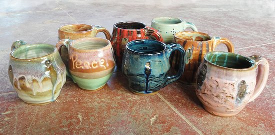 Luling Icehouse Pottery Big Art Mugs. & Texas Star Dinnerware. - Picture of Luling Icehouse Pottery Luling ...