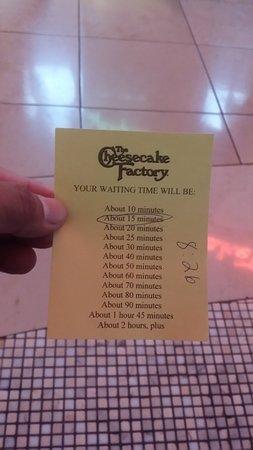 Foto de The Cheesecake Factory