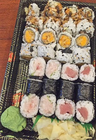 East Hampton, NY: Yellowtail Scallion Roll, Tuna Roll, Sweet Potato Roll, Eel Cucumber Roll