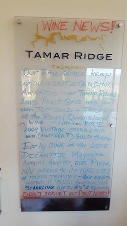 Rosevears, Australia: Wine News at Tamar Ridge