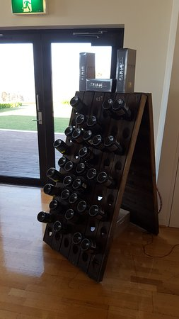 Rosevears, Australia: Old riddling rack display at cellar door