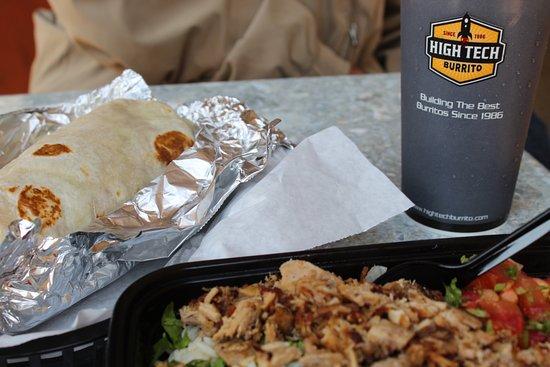 Novato, CA: Burrito and burrito bowl.
