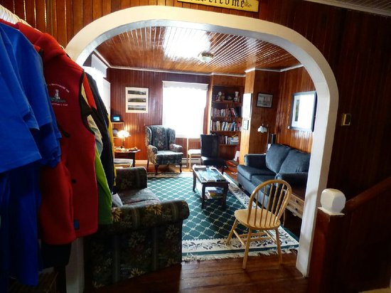 Quirpon Island, Kanada: great room