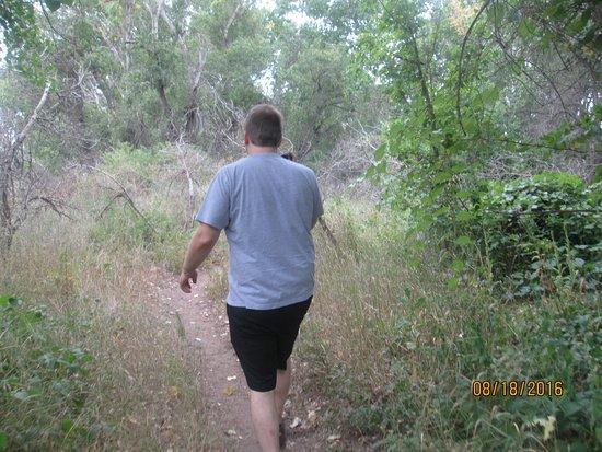 Littleton, CO: Walking on some trails near the creek.