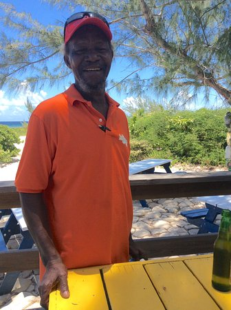 Middle Caicos: Daniel, the owner, ready to tell a story!