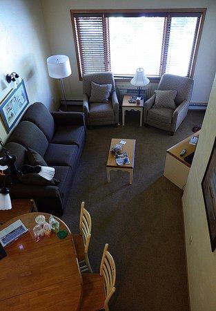 Waterbury Inn: view from loft