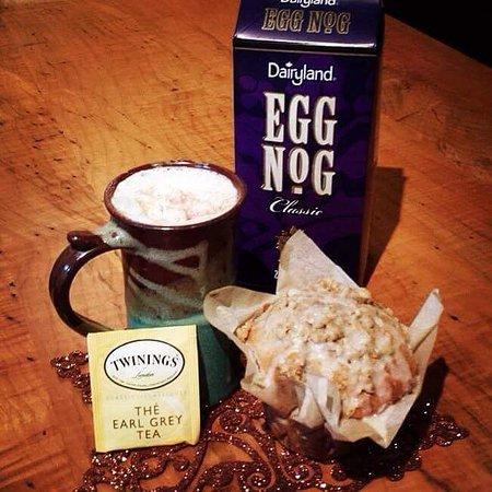 Port Alberni, Kanada: Eggnog latte's for colder winter days! Brr...