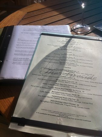 ‪‪Port Ludlow‬, واشنطن: Menus--extensive selections‬