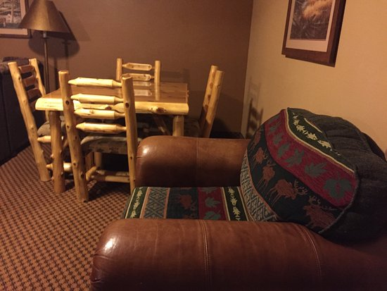 "Baxter, MN: Fun watermark. Plenty of space in the ""living room"" if the Bear's Den suite."