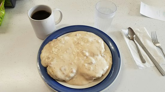 ‪‪Perry‬, ‪Iowa‬: Biscuits and gravy‬