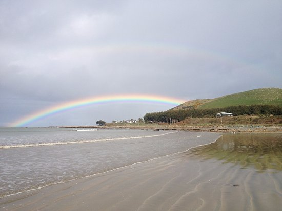 Southland Region, نيوزيلندا: Colac Bay Rainbow