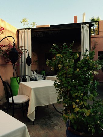 Riad Al Badia: breakfast on the terrace