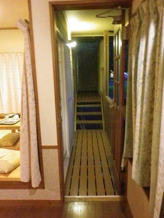紀北町, 三重県, 露天風呂へ行くベランダを兼ねた通路
