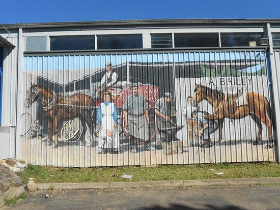 Kurri Kurri, Australien: one of the many murals...
