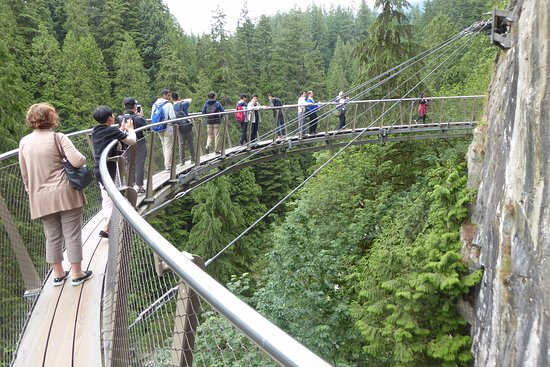 Норт-Ванкувер, Канада: Suspended walkway over the gorge.