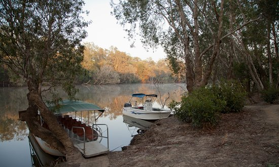 Territorio del Norte, Australia: View along Mary River at sunrise