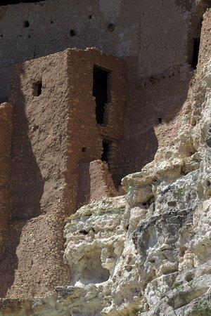 Camp Verde, AZ: Close-up (zoomed) view of a part of Montezuma Castle.