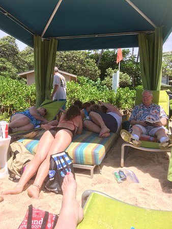 Turtle Bay Beach : Cabana was wonderful