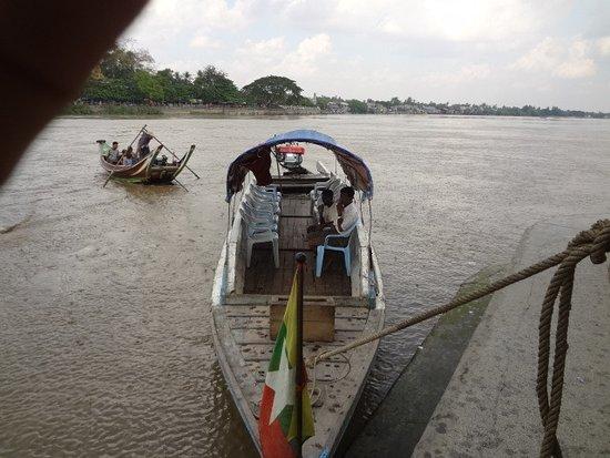 Yangon Region, Myanmar: Ferry boat to Ye Le Pagoda