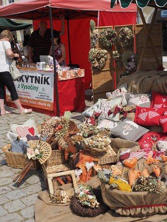 Telc, Tjekkiet: Saturday market