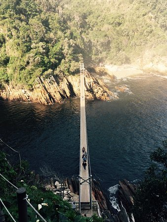 Tsitsikamma National Park, แอฟริกาใต้: Great outdoor experience. Feels almost like a deep forest expedition... Enjoyable for the whole