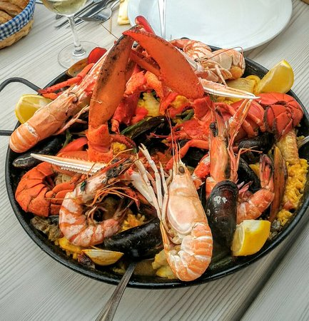 Drogenbos, Belgia: This is what a delicious Paella Royal looks like