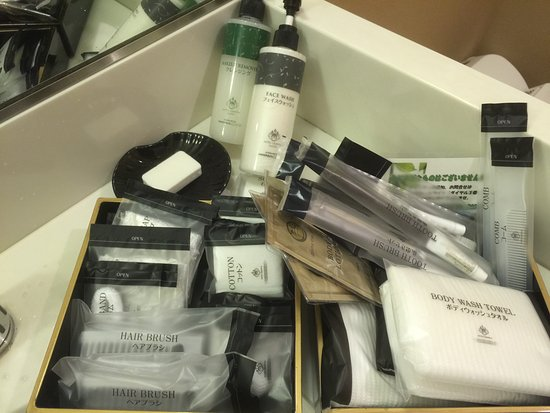 Hotel Granvia Kyoto: Lots of toiletry items for guests' convenience