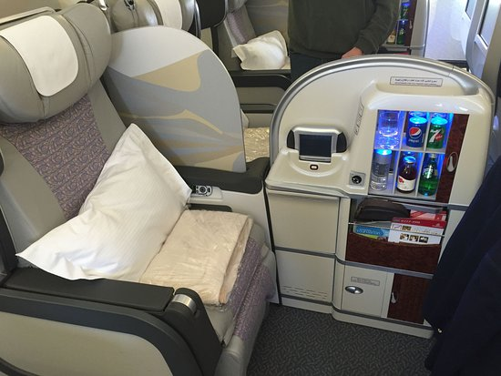 Emirates First Cl Seat On 777 Used From Dubai To India