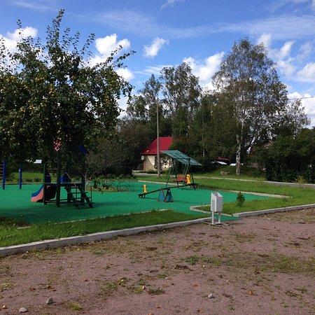 Leningrad Oblast, Rusia: База отдыха.  Детская площадка