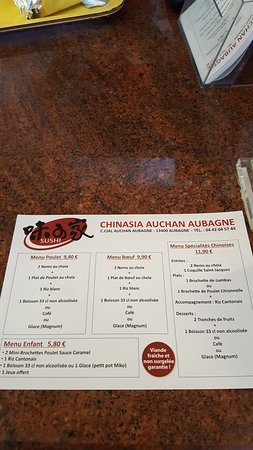 Aubagne, France: Les menus