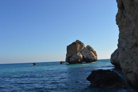 Aphrodite's Rock in de late middag