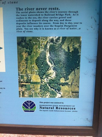 Sequim, WA: Natural Resources sign of the Dungeness River