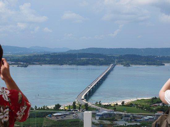 Nakijin-son, Japan: 古宇利オーシャンタワーから望む古宇利大橋