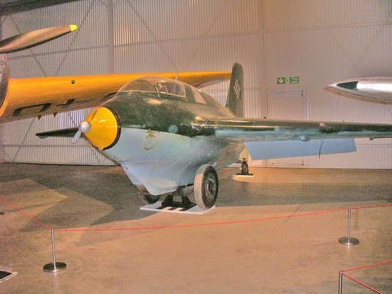 North Berwick, UK: Messerschmitt Me 163B-1a Komet 191659.. one of only three left in the UK