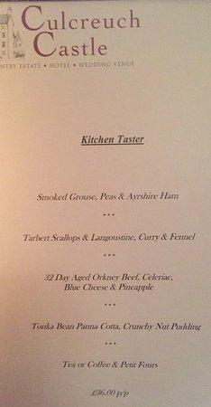 Fintry, UK: Great Fine Dining & Terrific Staff