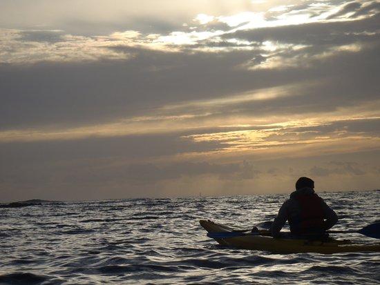 Ile Molene, Fransa: tour de molene au coucher de soleil