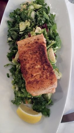 West Hartford, CT: Had the kale brussel sprouts salad with added salmon.
