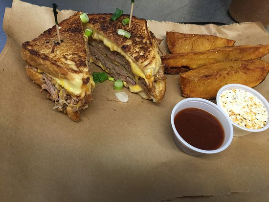 Belton, Τέξας: Brisket Grilled Cheese Sandwich!