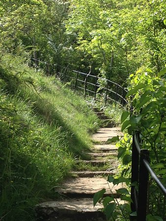 Dyserth, UK: step midway,