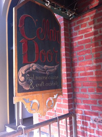 Cellar Door: Inviting signage, then down the steps