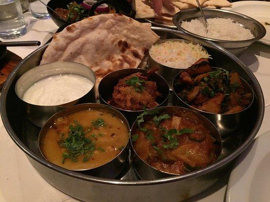 Iver, UK: Vegetarian thali
