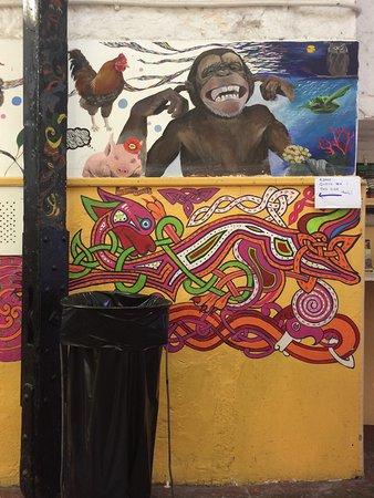 Some fun artwork brightening up the walls of Blackrock Market in South Dublin.