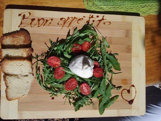 Stanford, แอฟริกาใต้: homemade burrata cheese