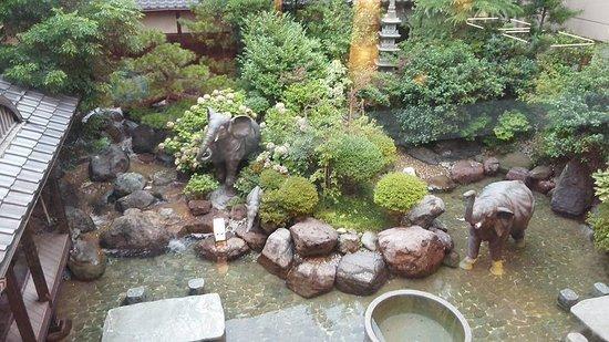 Awara, Japon : 中庭の様子