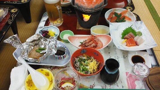 Awara Japan  City pictures : Awara, Japan: 夕食 品数も多く、満足できる内容でした