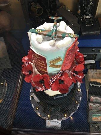 Eden Camp: Beautiful cake on display in the Garrison Bar.