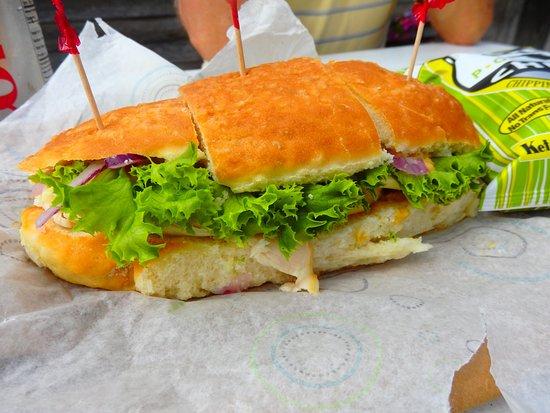 Leland, MI: pretzel bread